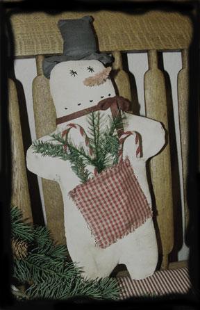 BC105 Prim Pocket Snowman